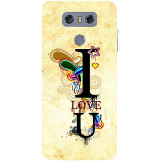 Snooky Printed Love You Mobile Back Cover For LG G6 - Multicolour