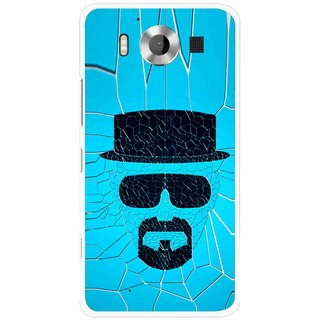 Snooky Printed Beard Man Mobile Back Cover For Microsoft Lumia 950 - Multicolour