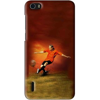 Snooky Printed Football Mania Mobile Back Cover For Huawei Honor 6 - Multi