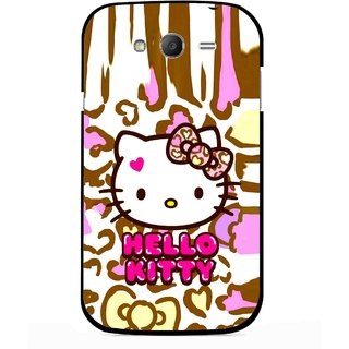 Snooky Printed Cute Kitty Mobile Back Cover For Samsung Galaxy Grand I9082 - Multicolour