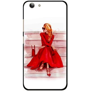 Snooky Printed Attitude Girl Mobile Back Cover For Vivo Y53 - Multi