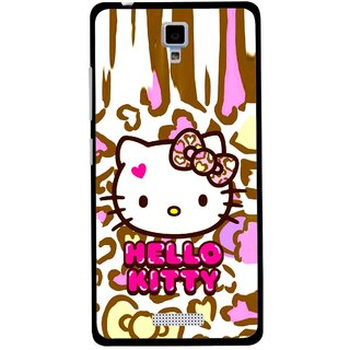 Snooky Printed Cute Kitty Mobile Back Cover For Gionee Pioneer P4 - Multicolour