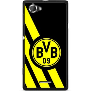 Snooky Printed Sports Logo Mobile Back Cover For Sony Xperia L - Multicolour