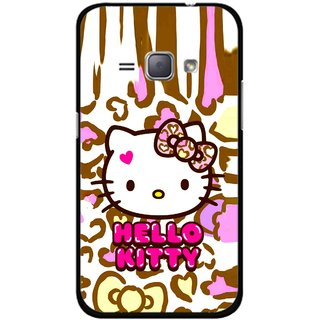 Snooky Printed Cute Kitty Mobile Back Cover For Samsung Galaxy J1 - Multicolour