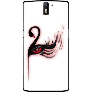 Snooky Printed Eye Art Mobile Back Cover For OnePlus One - Multicolour