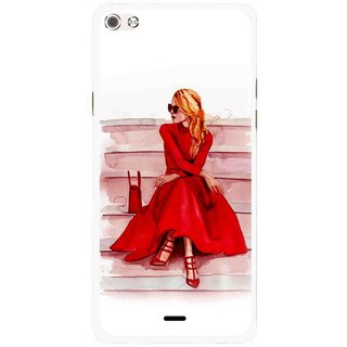 Snooky Printed Attitude Girl Mobile Back Cover For Micromax Canvas Sliver 5 Q450 - Multi