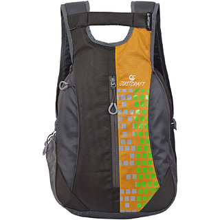 Roller Black Yellow Backpack