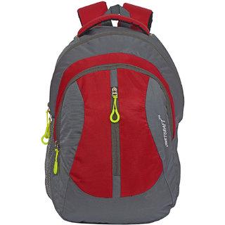Flora Grey Red Backpack