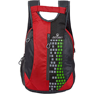 Roller Red Black Backpack