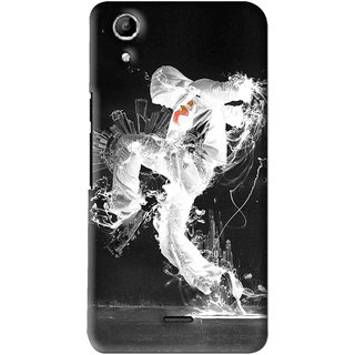 Snooky Printed Dance Mania Mobile Back Cover For Micromax Canvas Selfie Lens Q345 - Multi
