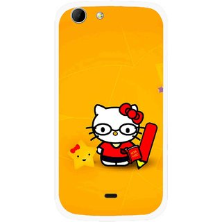 Snooky Printed Kitty Study Mobile Back Cover For Micromax Canvas 4 A210 - Multicolour