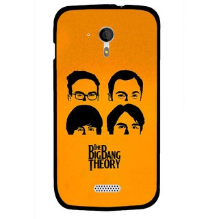 Snooky Printed Bigbang Mobile Back Cover For Micromax A116 - Yellow