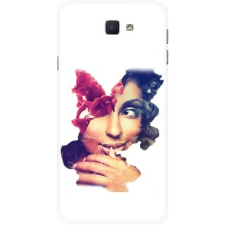 Snooky Printed Vintage Girl Mobile Back Cover For Samsung Galaxy J7 Prime - Multicolour