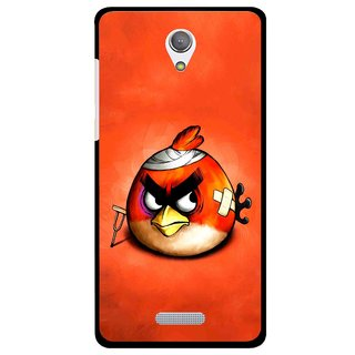 Snooky Printed Wouded Bird Mobile Back Cover For Gionee Marathon M4 - Red