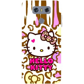 Snooky Printed Cute Kitty Mobile Back Cover For LG G6 - Multicolour