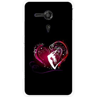 Snooky Printed Lady Heart Mobile Back Cover For Sony Xperia SP - Multicolour