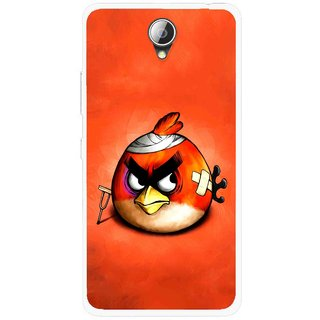 Snooky Printed Wouded Bird Mobile Back Cover For Lenovo A5000 - Red