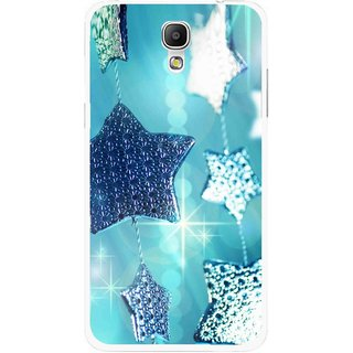 Snooky Printed Sparkling Stars Mobile Back Cover For Samsung Galaxy Mega 2 - Multicolour