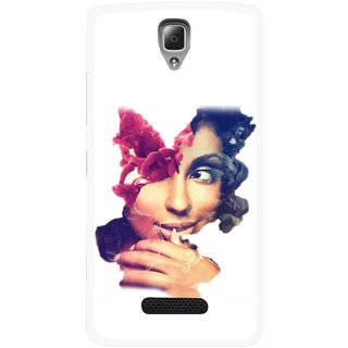 Snooky Printed Vintage Girl Mobile Back Cover For Lenovo A2010 - Multicolour