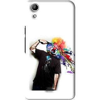 Snooky Printed Shooting Joker Mobile Back Cover For Micromax Canvas Selfie Lens Q345 - Multi