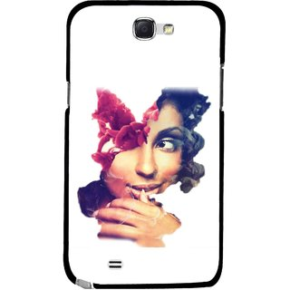 Snooky Printed Vintage Girl Mobile Back Cover For Samsung Galaxy Note 2 - Multicolour