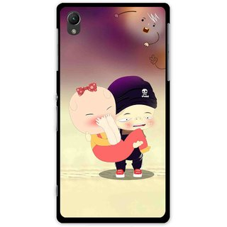 Snooky Printed Friendship Mobile Back Cover For Sony Xperia Z1 - Multi