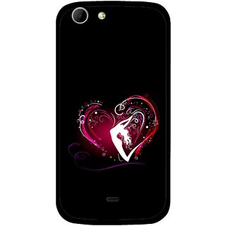 Snooky Printed Lady Heart Mobile Back Cover For Micromax Canvas 4 A210 - Multicolour
