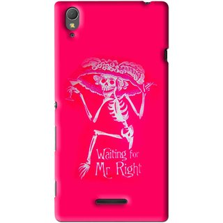 Snooky Printed Mr.Right Mobile Back Cover For Sony Xperia T3 - Multi