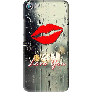 Snooky Printed Love You Mobile Back Cover For Micromax Canvas Fire 4 A107 - Multi