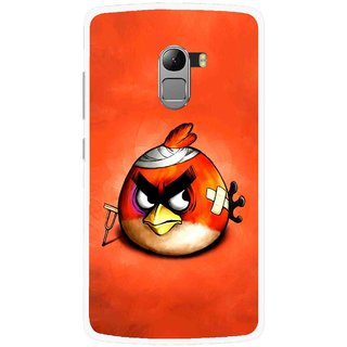 Snooky Printed Wouded Bird Mobile Back Cover For Lenovo K4 Note - Red