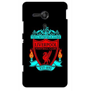 Snooky Printed Football Club Mobile Back Cover For Sony Xperia SP - Multicolour