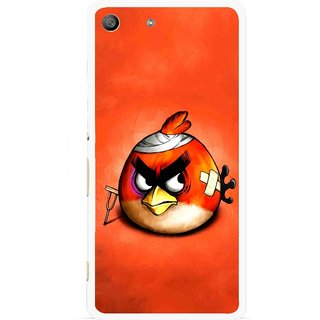 Snooky Printed Wouded Bird Mobile Back Cover For Sony Xperia M5 - Red