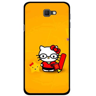Snooky Printed Kitty Study Mobile Back Cover For Samsung Galaxy J5 Prime - Multicolour