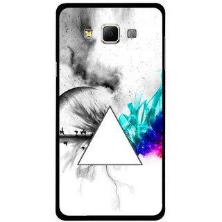 Snooky Printed Math Art Mobile Back Cover For Samsung Galaxy E7 - Multicolour