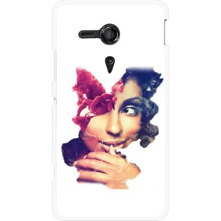 Snooky Printed Vintage Girl Mobile Back Cover For Sony Xperia SP - Multicolour
