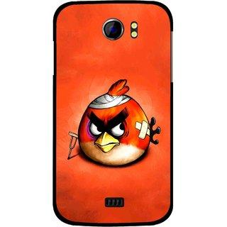 Snooky Printed Wouded Bird Mobile Back Cover For Micromax Canvas 2 A110 - Red