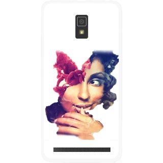 Snooky Printed Vintage Girl Mobile Back Cover For Lenovo A6600 - Multicolour