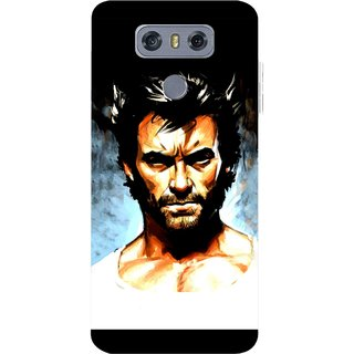 Snooky Printed Angry Man Mobile Back Cover For LG G6 - Multicolour