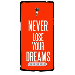 Snooky Printed Never Loose Mobile Back Cover For Oppo Find 7 - Multicolour