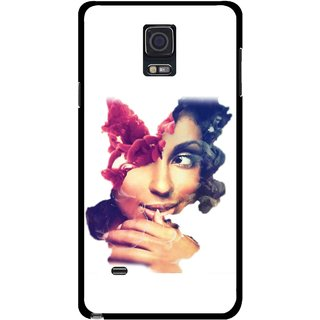 Snooky Printed Vintage Girl Mobile Back Cover For Samsung Galaxy Note 4 - Multicolour