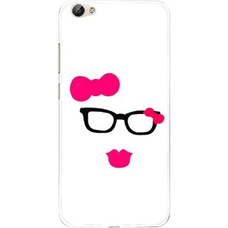 Snooky Printed Pinky Girl Mobile Back Cover For Vivo Y66 - Multi