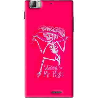 Snooky Printed Mr.Right Mobile Back Cover For Lenovo K900 - Multi