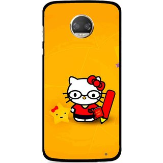 Snooky Printed Kitty Study Mobile Back Cover For Motorola Moto Z2 Play  - Multicolour