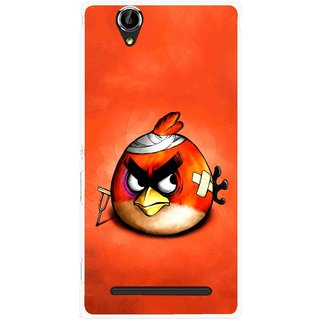 Snooky Printed Wouded Bird Mobile Back Cover For Sony Xperia T2 Ultra - Red