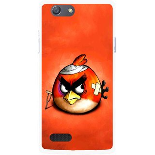 Snooky Printed Wouded Bird Mobile Back Cover For Oppo Neo 7 - Red