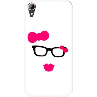 Snooky Printed Pinky Girl Mobile Back Cover For HTC Desire 830 - Multi