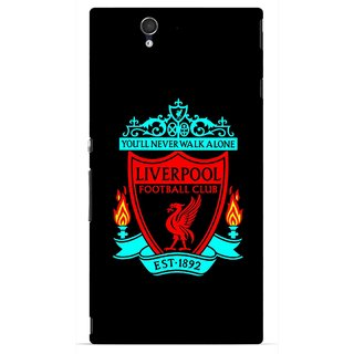 Snooky Printed Football Club Mobile Back Cover For Sony Xperia Z - Multicolour