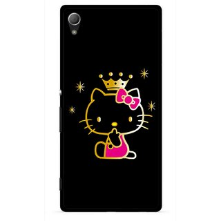 Snooky Printed Princess Kitty Mobile Back Cover For Sony Xperia Z4 - Multi