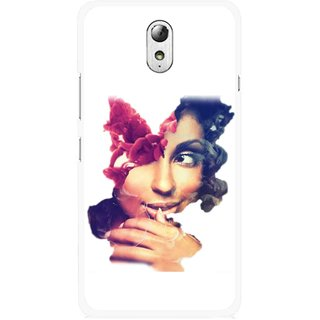 Snooky Printed Vintage Girl Mobile Back Cover For Lenovo Vibe P1M - Multicolour