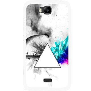 Snooky Printed Math Art Mobile Back Cover For Huawei Honor Bee - Multicolour